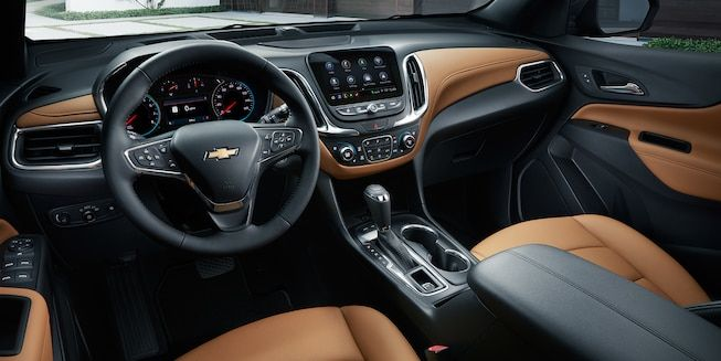2019 Equinox Small Suv Interior Photo Jet Black Brandy Perforated