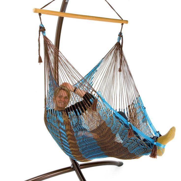 Island Bay Handmade Mayan Hammock Chair Aruba Stripe Nylon - 2 1/2 NYLON ARUBA