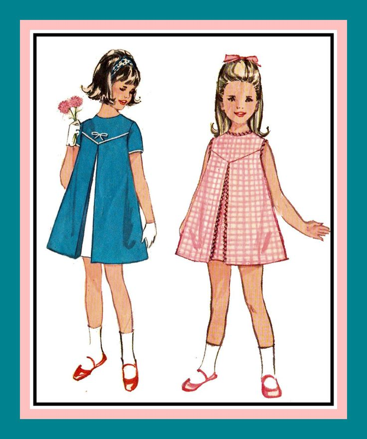 Vintage 1963-TRAPEZE DRESS-Toddler Sewing Pattern-Three Sweet Styles-Inverted Center Pleat-Shaped Yoke-Rick-Rack-Button-Bows-Size 4-Rare by FarfallaDesignStudio on Etsy