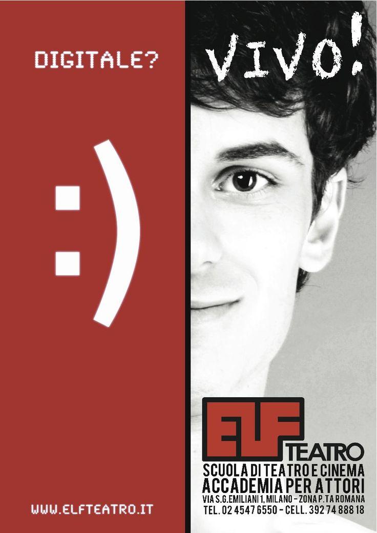 AUDIZIONI APERTE ACCADEMIA PER ATTORI DI TEATRO E CINEMA-ELF TEATRO MILANO OPEN AUDITIONS FOR ACTORS www.elfteatro.it