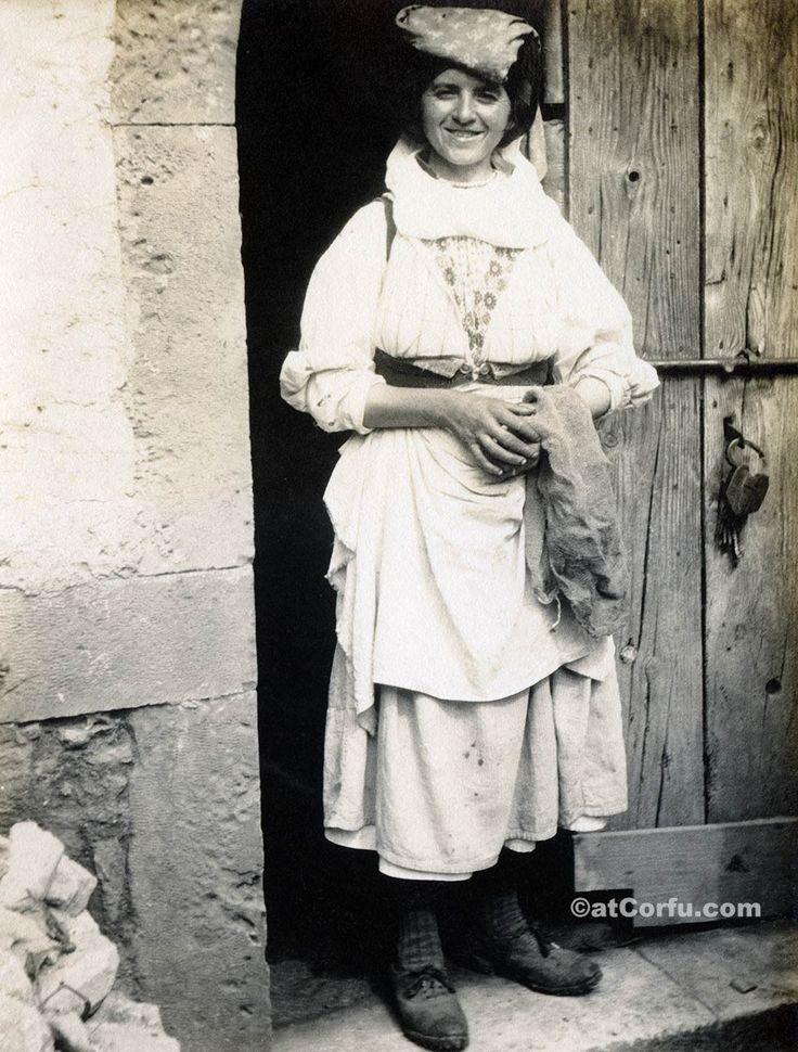Corfu old photos-a woman 1920. Corfu of 1900 through unique photos. https://atcorfu.com/corfu-old-photos/