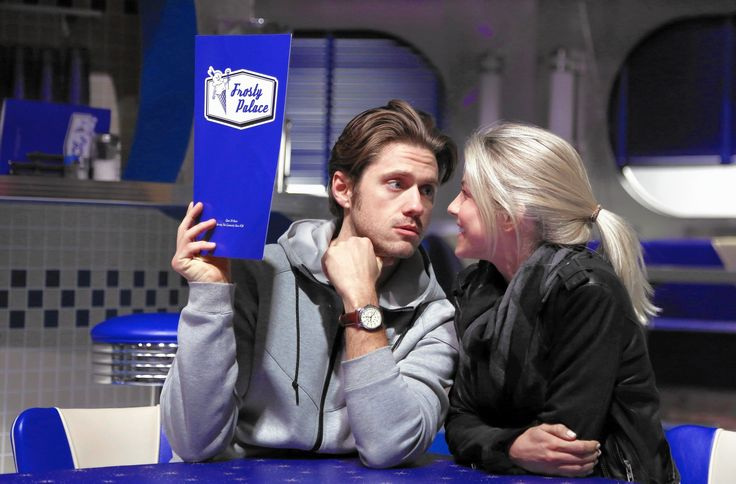 "During a recent rehearsal for  Fox 's upcoming, live broadcast of the musical ""Grease,"" Aaron Tveit and Julianne Hough waited for their musical cue to jump in the fray and gambol alongside a troupe of frenetic dancers."