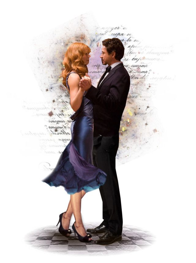 """""You, uh....., wanna dance?"" Pepper Potts-Tony Stark"" by c-freedom ❤ liked on Polyvore featuring art"