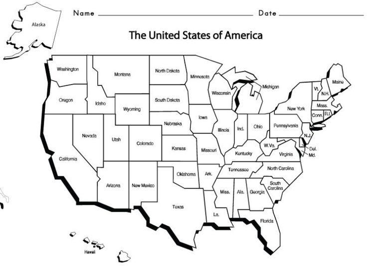 Usa States And Capitals Map Printable map us states and