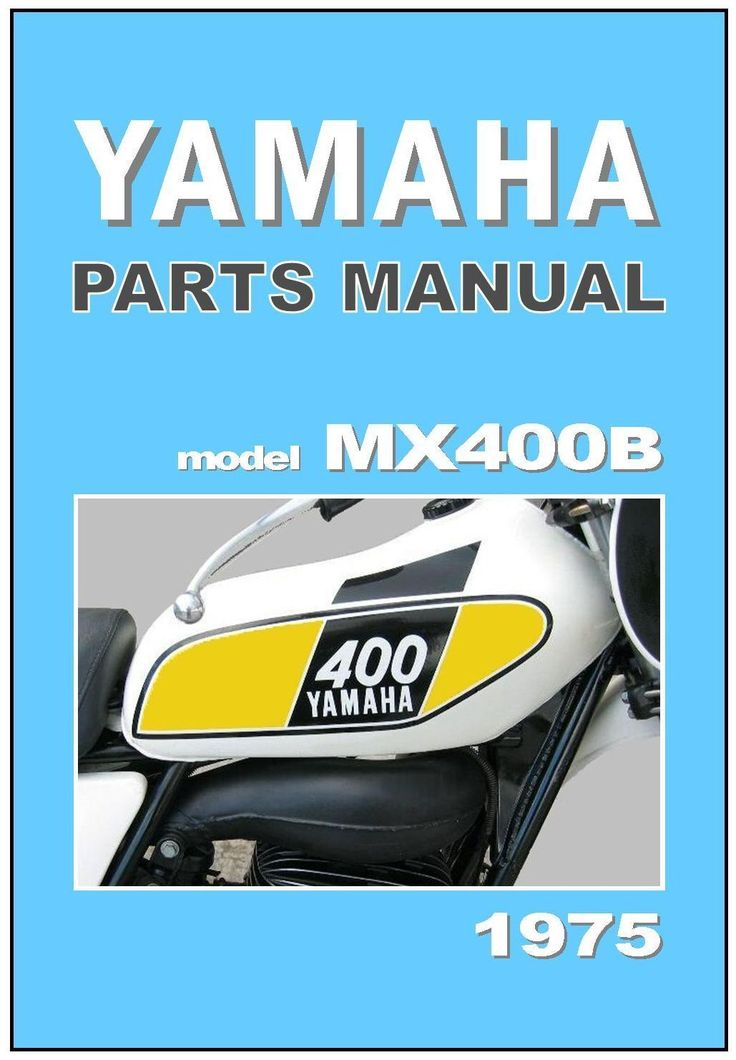 Yamaha Parts Manual MX400 MX400B 1975 VMX Replacement Spares Catalog Catalogue | eBay