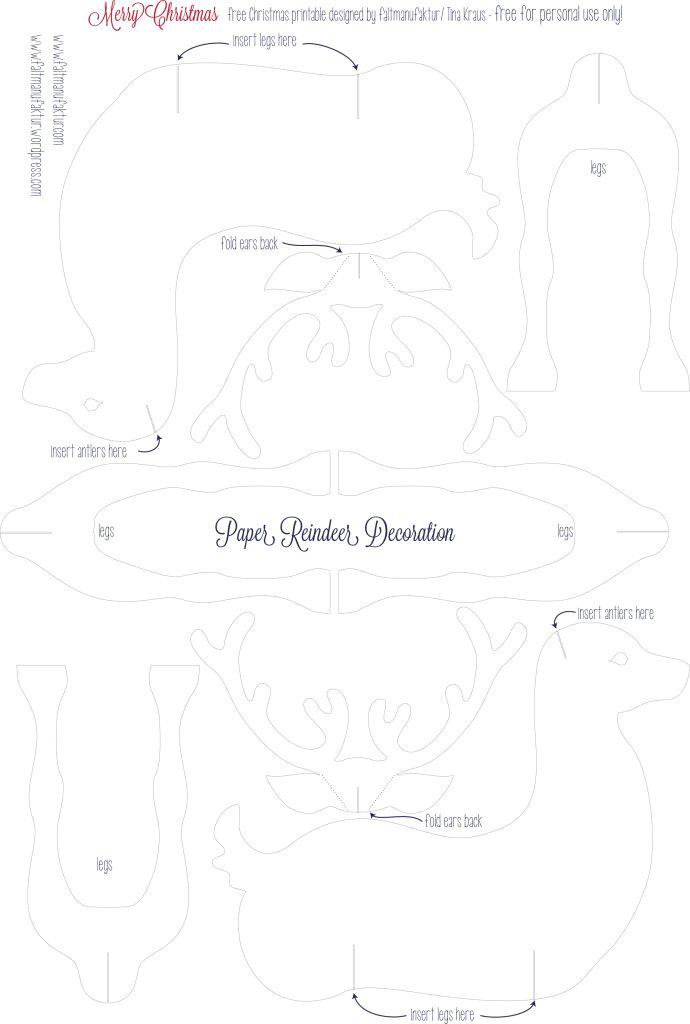 1000 images about 3d reindeer templates on pinterest reindeer templates and wood patterns. Black Bedroom Furniture Sets. Home Design Ideas