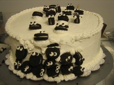 Fun Food Kids cake kuchen torte oreo zuckeraugen googly eyes critter cute funny einfach easy