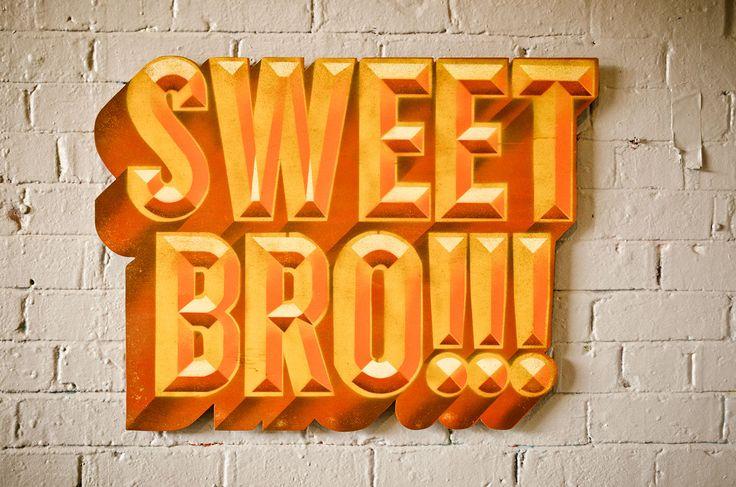 Spraypaint on Plywood. Sweet bro!