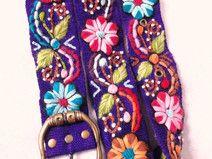 105 riem bloemen borduurwerk peru hippy ethno boho