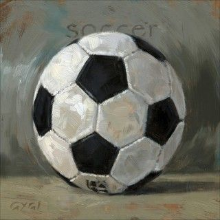 'Amberton Publishing Soccer Ball' Canvas Art - Overstock™ Shopping - Top Rated Canvas