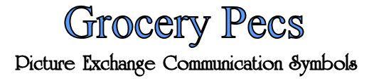 Grocery Pecs, Autism Pec Symbols, Picture Exchange Communication System