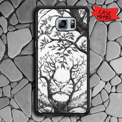 Sleeping Tiger Optical Illusion Samsung Galaxy S7 Edge Black Case
