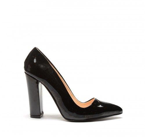 Pantofi Giona Negri Lac