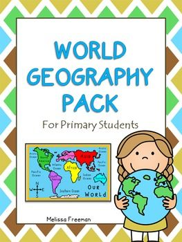 World Geography Pack (Primary)The World Geography Pack provides a great introduction to basic geography concepts for primary students. It contains a 10-page work booklet with world maps (continents, countries, oceans, and equator), a continents match up game, continents word wall word cards, a geography quiz, and a word search.