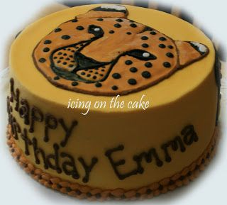 The Icing on the Cake: Emma's 7th birthday cake