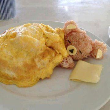 Une omelette très artistique