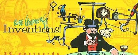 A Rube Goldberg machine, contraption, invention, device, or apparatus is a deliberately over-engineered or overdone machine that performs a very simple task in a very complex fashion, usually including a chain reaction. The expression is named after American cartoonist and inventor Rube Goldberg (1883-197