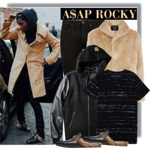 A$AP ROCKY in Gucci Flats at Fashion Week