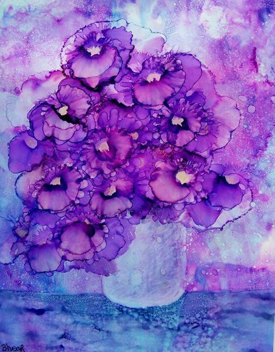 Purple passion ... would love to have this print on my wall.