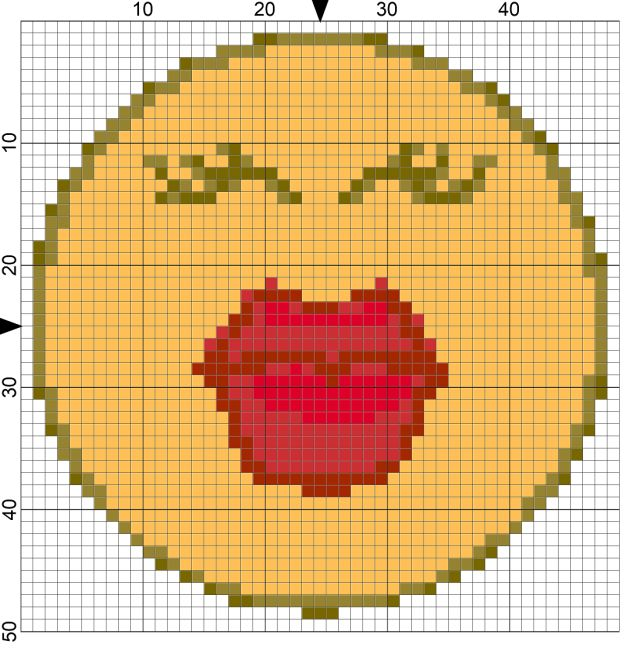 Make a Friend Day Free Needlepoint Chart: Day 42 of 365 Needlepoint New Year's Resolutions