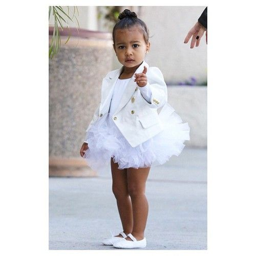 Little North West in a beautiful dress