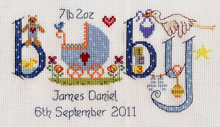 This fun-to-make and gorgeous to look at birth sampler cross stitch kit features a charming and unique design. Traditional newborn icons like the stal...