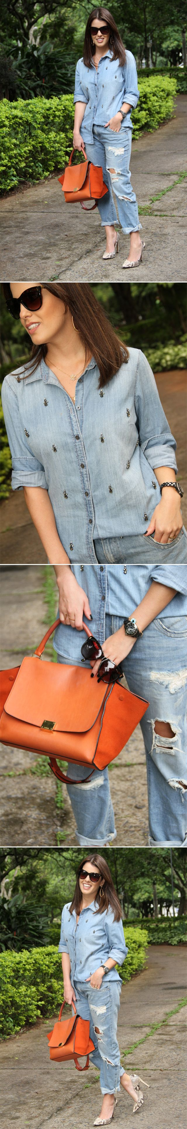 Look do Dia: Jeans + Jeans por Dê Gebrim   Diário de acessórios em dezembro 18, 2013