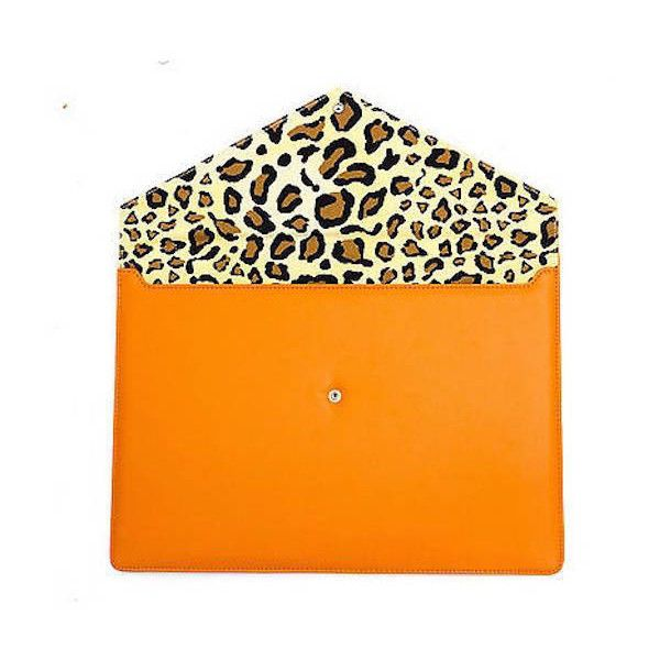 Jenson Samuel Shirts Orange Leopard Leather Apple Macbook Pro Air 13'... ($23) ❤ liked on Polyvore featuring accessories, tech accessories, macbook pro laptop case, leather laptop case, leopard laptop case, orange laptop case and laptop sleeve cases