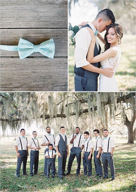 grey and teal groomsmen @weddingchicks