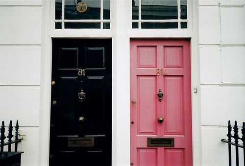 *: Decor, Black Doors, Color, Black Pink, Front Doors, House, Place, Space, Pink Doors