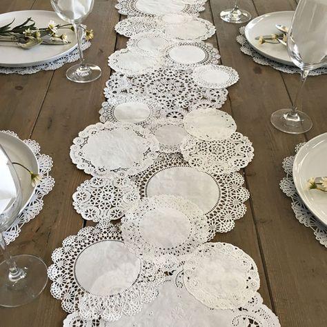 PRETTIE TABLE RUNNER schäbig rustikale Papier von PrettieParties