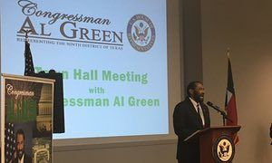 Impeach Trump? Houston lawmaker holds unusually agreeable town hall | US news | The Guardian