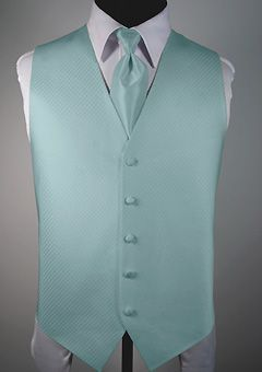 Palermo mint vest and tie