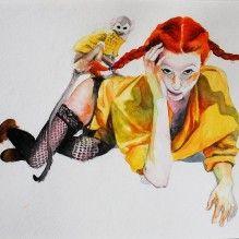 Myra Sjoberg Maleri Kunst Etableret Kunstner Oliemaling Akrylmaling Akvarel Surrealisme Smukt Nutidskunst Kbh Kunst Kunstner Billedkunst Surrealisme
