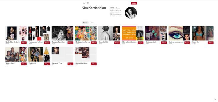 Communicatie Kim Kardashian: https://www.pinterest.com/Pinner9377245/?eq=kim%20kardashian&etslf=21707 Wie is er meer bezig met social media dan de internetfamous ster K. Kardashian? Ze gebruikt onder andere Pinterest om haar volgers nog meer te plezieren!