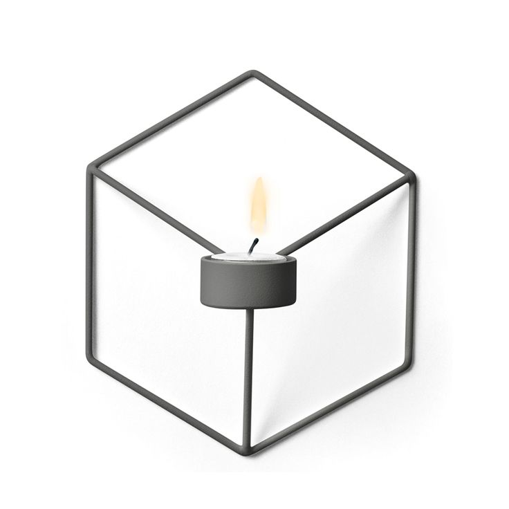 POV Candle holder Wall, Warm Grey, Menu
