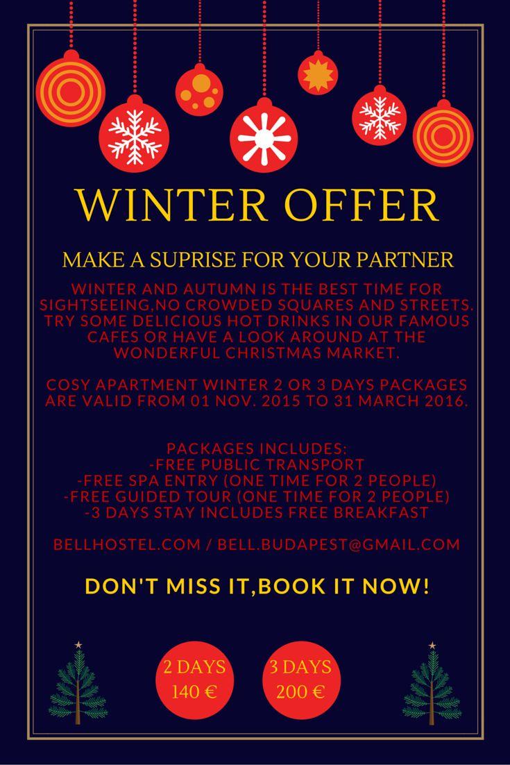 #winter #budapest #winter offer #budapest winter #apartment budapest