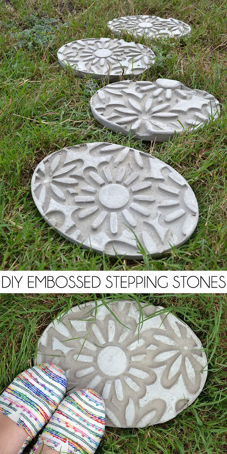Top 114 ideas about diy concrete on pinterest concrete for Diy garden stepping stones