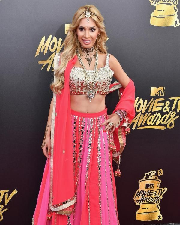 Teen Mom's, Reality star Farrah Abraham wears a lehenga at MTV Awards bringing culture to the red carpet | PINKVILLA