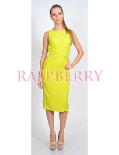 Midi dress with zipper on back - Rochii - Imbracaminte