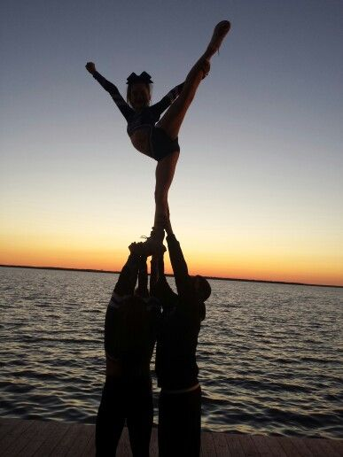 @xoxo_avamazz and her JuST Cheer fam. stunting at Reach the Beach nationals.  Couldn't have timed it better!  JuST love this! ⚫⚪