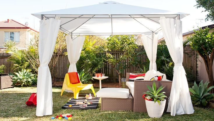 Ikea gazebo outdoor ideas and projects pinterest for Ikea outdoor curtains