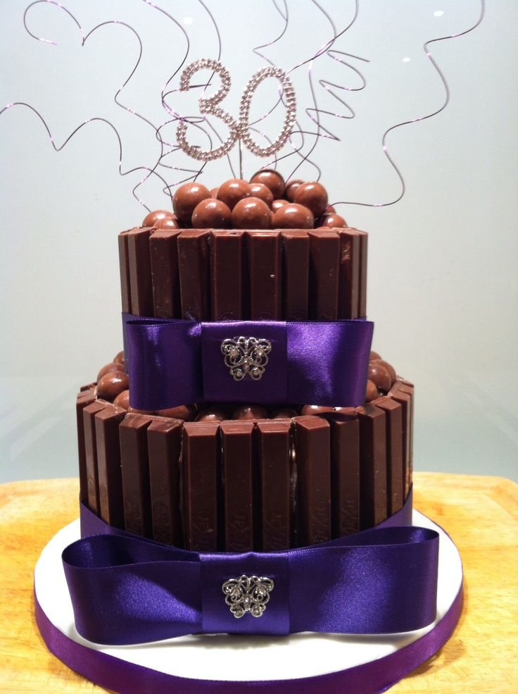 30th birthday cake kit kats and chocolate almonds for 30th birthday cake decoration