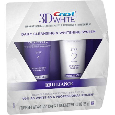 $12.90 Crest 3D White Brilliance Daily Cleansing Toothpaste and Whitening Gel System, 2 pc
