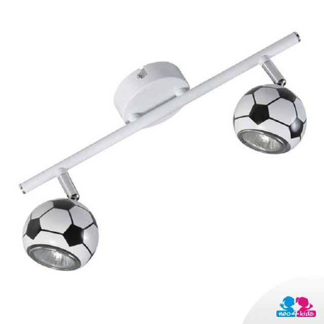 Diese Idee gefällt vor allem kleinen Fußballfans. #lampe #kinderzimmer #einrichtungsdesign #fußball
