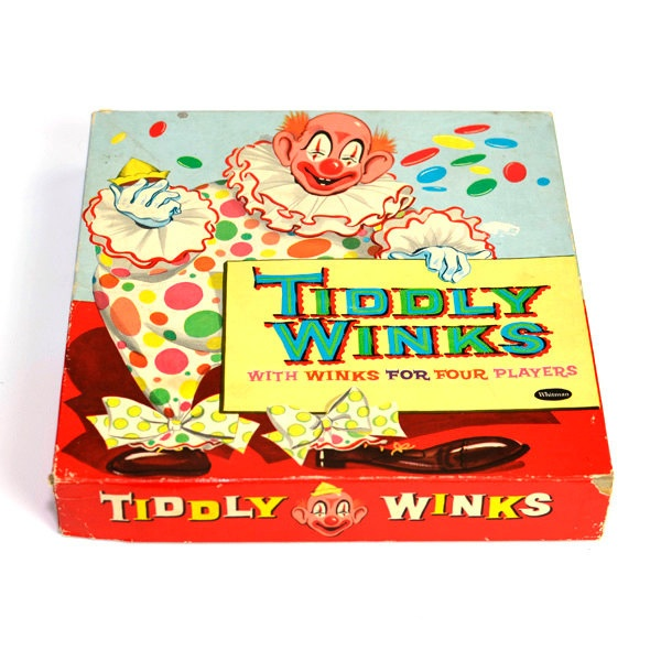 """Tiddly Winks Old Fashioned Game - """"With Winks for Four Players"""" - Complete Set in Box - Vintage Toy Collectible. $7.95, via Etsy."""