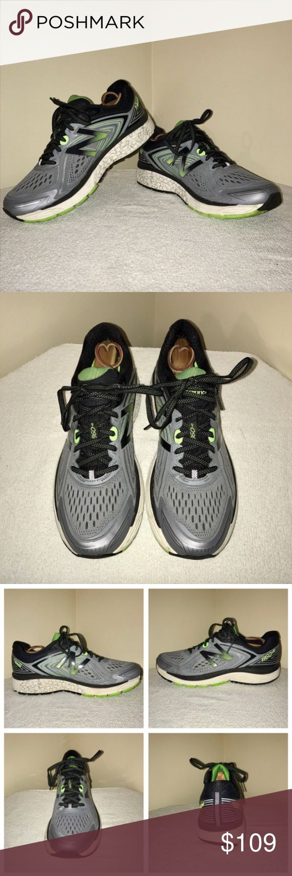 Men'S New Balance 860 V8 Running Sneakers 8.5 M MANUFACTER DATE 07/2017  For sale is a pair of New Balance 860 V8 Men's Running Sneakers. The sneakers were only used one time and are practically brand new. Comes from a smoke free environment. These were purchased at the MSRP of $139.99. New Balance Shoes Athletic Shoes