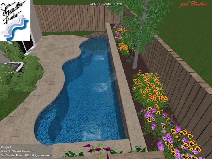 Swimming Pool Design For Small Spaces view in gallery ingenious pool with twin water features and a fire pit design bluewater construction group Pools For Small Yards Swimming Pool Design Big Ideas For Small Yards