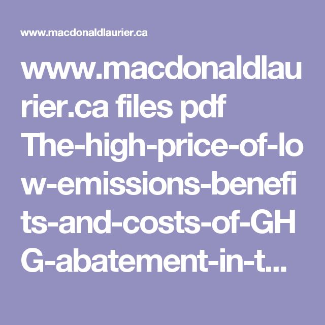 www.macdonaldlaurier.ca files pdf The-high-price-of-low-emissions-benefits-and-costs-of-GHG-abatement-in-the-transportation-sector-February-2012.pdf
