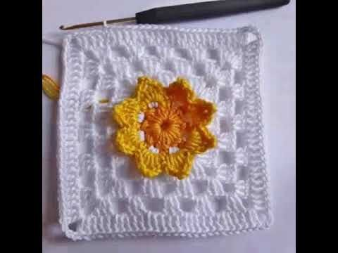 HOW TO CROCHET A GRANNY FLOWER SQUARE-STEP BY STEP